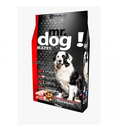 MR. DOG HAPPY BİFTEKLİ YETİŞKİN KÖPEK MAMASI 15 KG