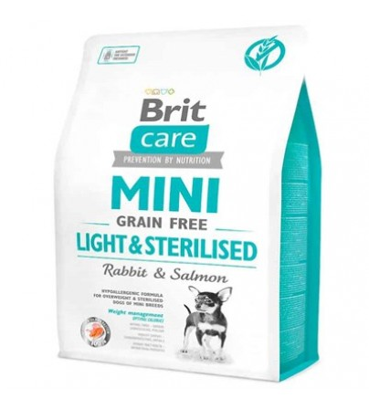 Brit Care Tahılsız Mini Light Sterillised Tavşanlı Köpek Maması 2 kg