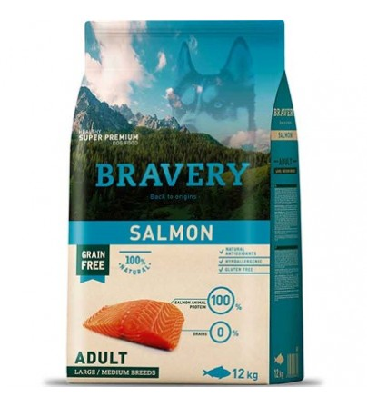 Bravery mini adult salmon med-large br. 2 kg